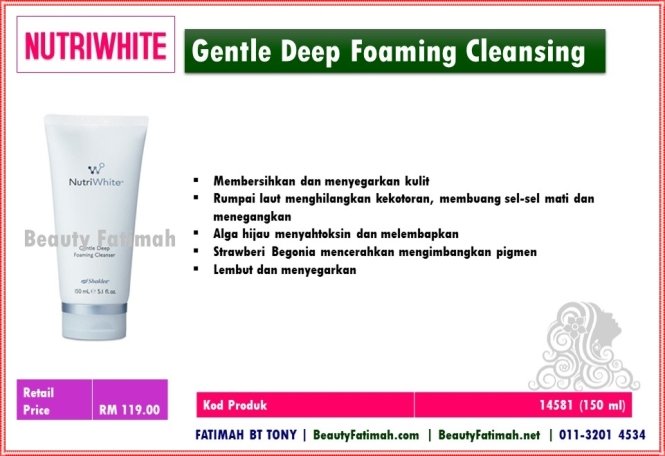 gentle deep foaming cleansing