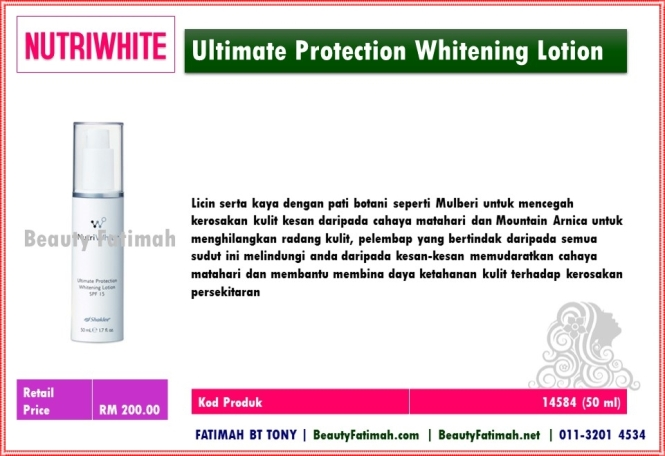 Ultimate protection whitening lotion